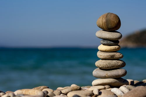 Stones stacked in a pile