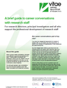 A guide for research directors, PIs and supervisors