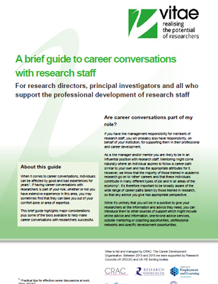 Brief guide to career conversations with researchers