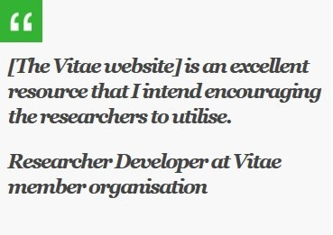 The Vitae website is an excellent resource that I intend encouraging the researchers to utilise
