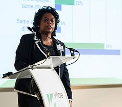 Emelda Rivers speaking at Vitae International Researcher Development Conference 2015