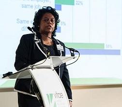 Emelda Rivers speaking at Vitae International Researcher Development Conference 2015