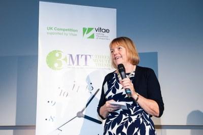 Janet Metcalfe speaking at Vitae 2015 3MT final
