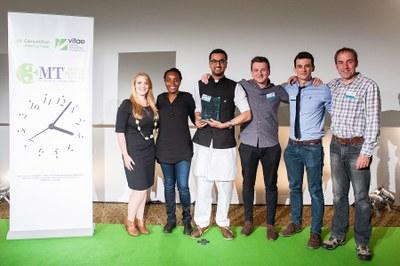 Vitae 3MT competition finalilists on stage 2015