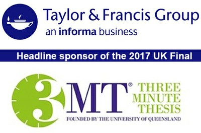 Taylor and Francis - the official sponsor of Vitae 3MT Competition 2017
