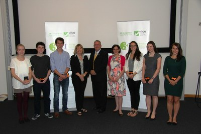 Finalists and judges at the 2014 UK 3MT semi-final