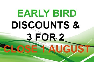 Early bird closes soon!