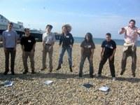 Participants outdoors team building