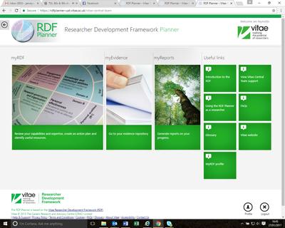 MyRDF Profile home page button