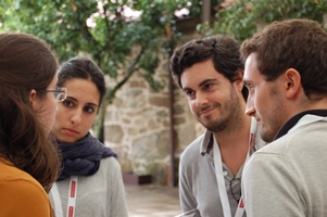 Group of researchers in discussion