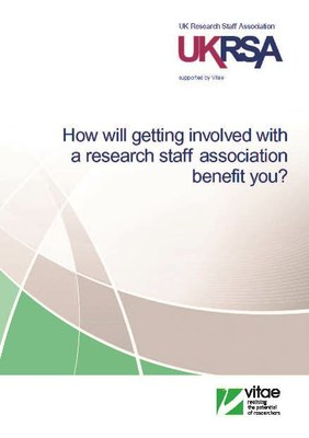 How will getting involved with a research staff association benefit you?