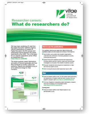 Press version: Resources on researcher careers
