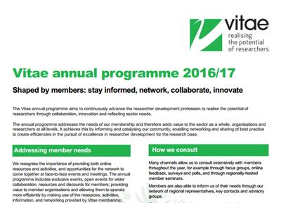 Vitae annual programme 2016 17 teaser