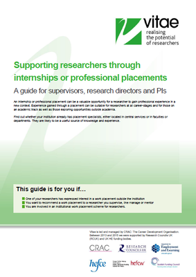 Supporting researchers through professional placements