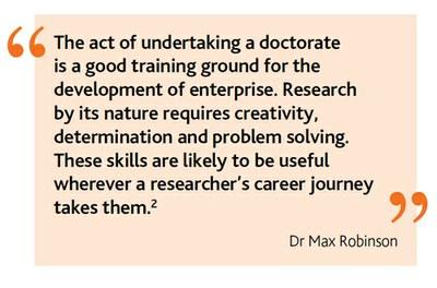 Enterprising researcher quote
