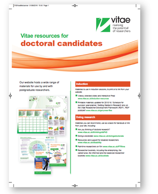 Press version: Resources for postgraduate researchers