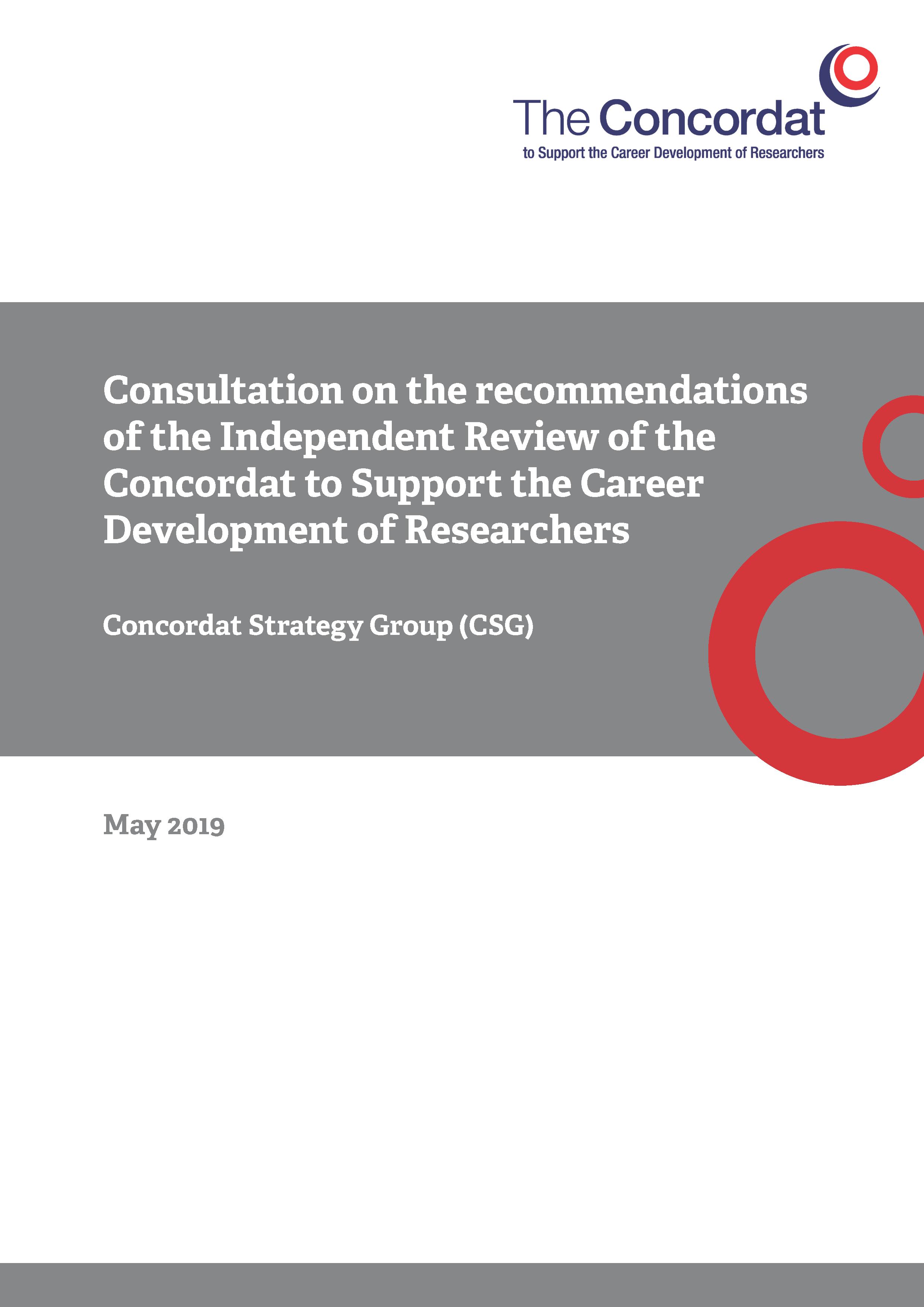 Concordat consultation