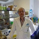 Douglas Browning in lab coat