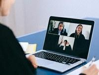 Female looking at laptop - virtual call