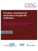 NEW RESEARCH: 'Provision of professional doctorates in English HE institutions'