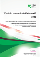 Report explores the occupations of former research staff who move beyond academic research