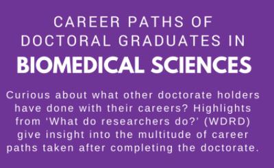 Biomedical sciences career destinations